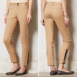 Anthro Cartonnier Ankle Zip Charlie Trousers